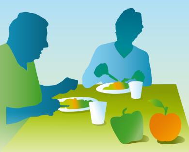 Ausgewogene und gesunde wöchentliche Ernährung